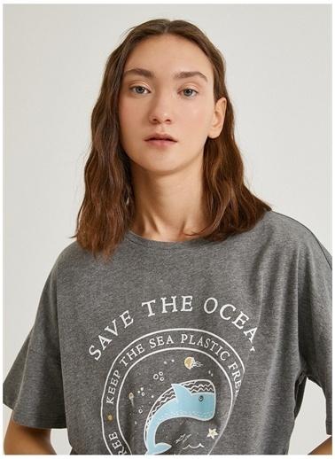 Koton Koton T-Shirt Antrasit